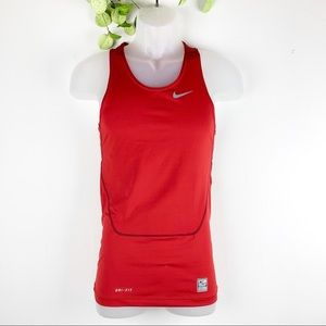 Nike Pro Combat Compression Sleeveless Top Red